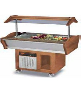 Buffet mobile central +30°C/+90 °C 6 GN 1/1